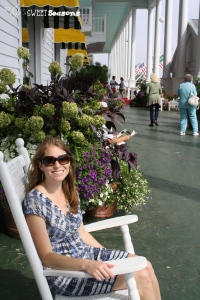 Me on porch of Grand Hotel
