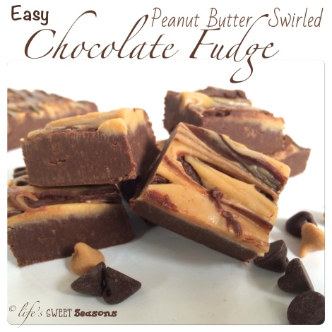 Peanut Butter Swirled Fudge 1