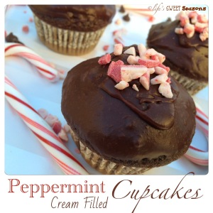 Peppermint Cream Filled Cupcakes 4