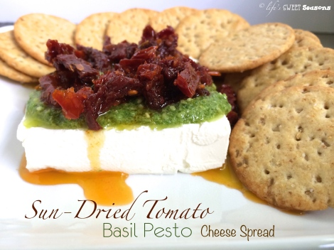 Sun Dried Tomato Basil Pesto Cheese Spread 1