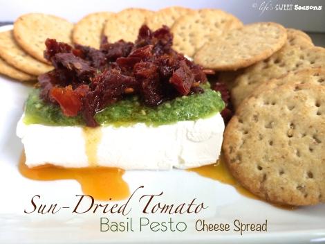 Sun Dried Tomato Basil Pesto Cheese Spread 1