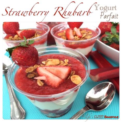 Strawberry Rhubarb Yogurt Parfait 1