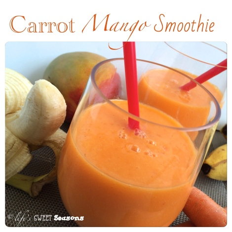 Carrot Mango Smoothie 1