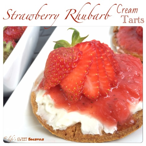 Strawberry Rhubarb Cream Tarts 1