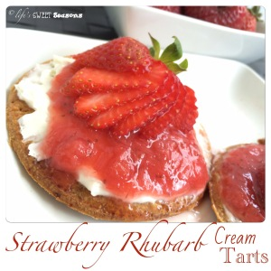 Strawberry Rhubarb Cream Tarts 3