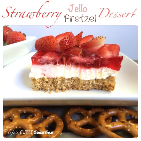 Strawberry Jello Pretzel Dessert 1