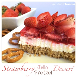 Strawberry Jello Pretzel Dessert 3