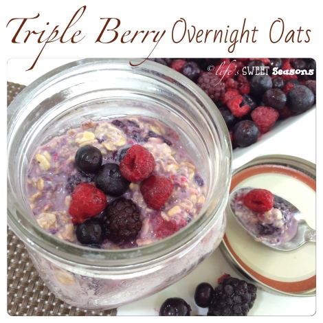 Triple Berry Overnight Oats 1