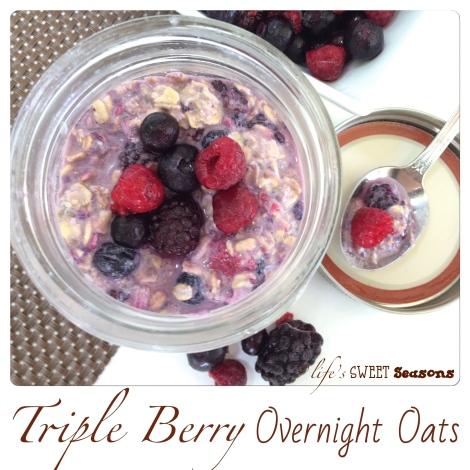 Triple Berry Overnight Oats 2