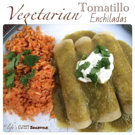 Vegetarian Tomatillo Enchiladas 1
