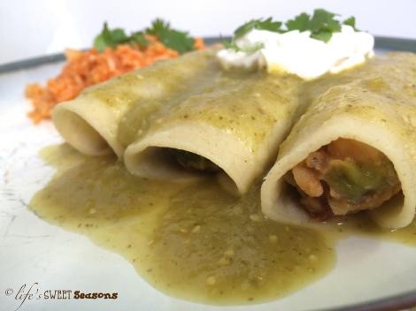 Vegetarian Tomatillo Enchiladas 2