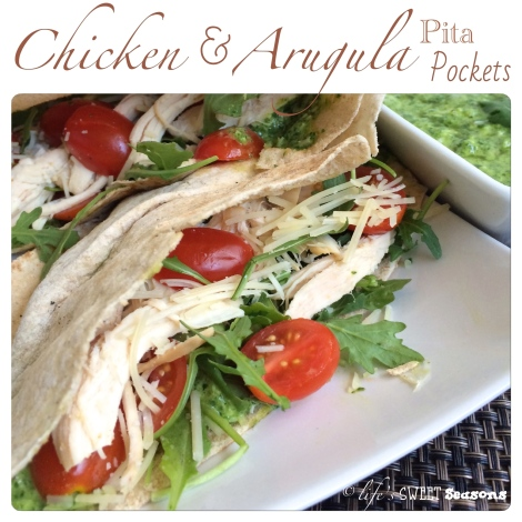Chicken & Arugula Pita Pockets 1