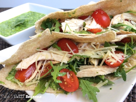 Chicken & Arugula Pita Pockets 2