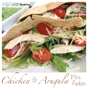 Chicken & Arugula Pita Pockets 4