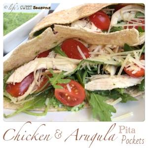 Chicken & Arugula Pita Pockets 4
