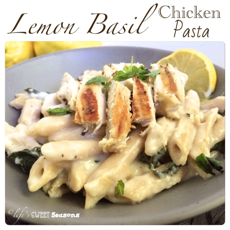 Lemon Basil Chicken Pasta 1