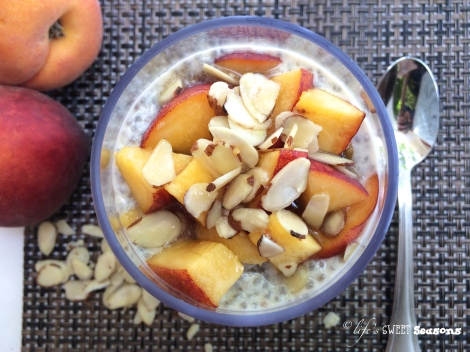 Peach Almond Chia Pudding 2